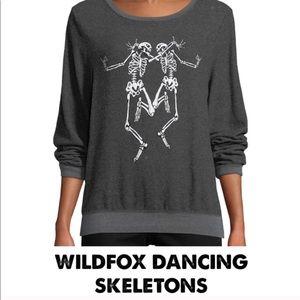 Wildfox Dancing Skeletons Sweatshirt
